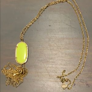 Neon yellow Kendra Scott rayne